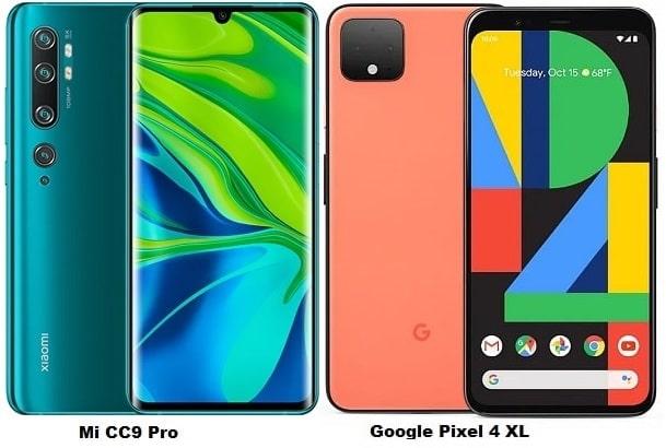 Xiaomi Mi CC9 Pro Vs Google Pixel 4 XL Specs Comparison
