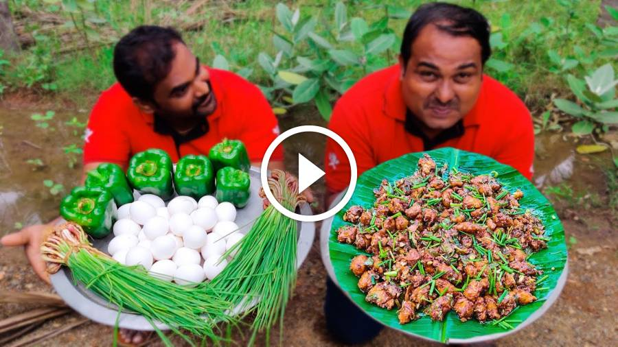 EGG MANCHURIAN | Muttai Manchurian Recepi | Egg Curry Village Style Cooking | World Food Tube