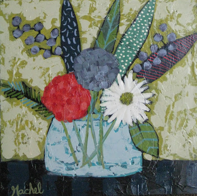 Rachel Rieves | Growing in Blue | 15x15 | $160