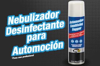 Guaja Trading presenta un nuevo Nebulizador Desinfectante para Automoción en aerosol de un solo uso de BG Products