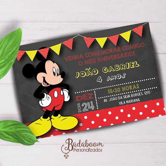 Mickey, arte digital, para imprimir, festa infantil, festa mickey, arte personalizada