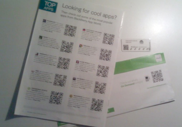 QR Codes used on Direct Mail Promotion