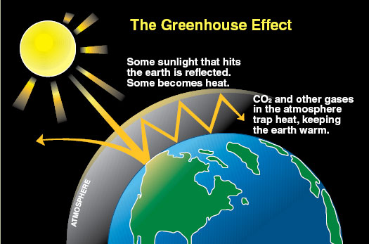 Environmental effects of greenhouse gases