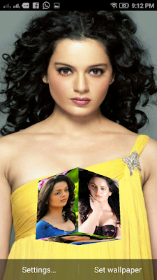 Kangana Ranaut 3D live Wallpaper For Android Mobile Phone