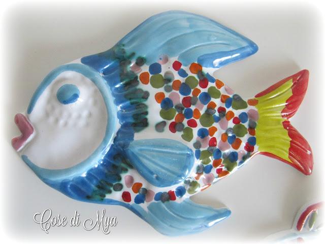 pesci di ceramica