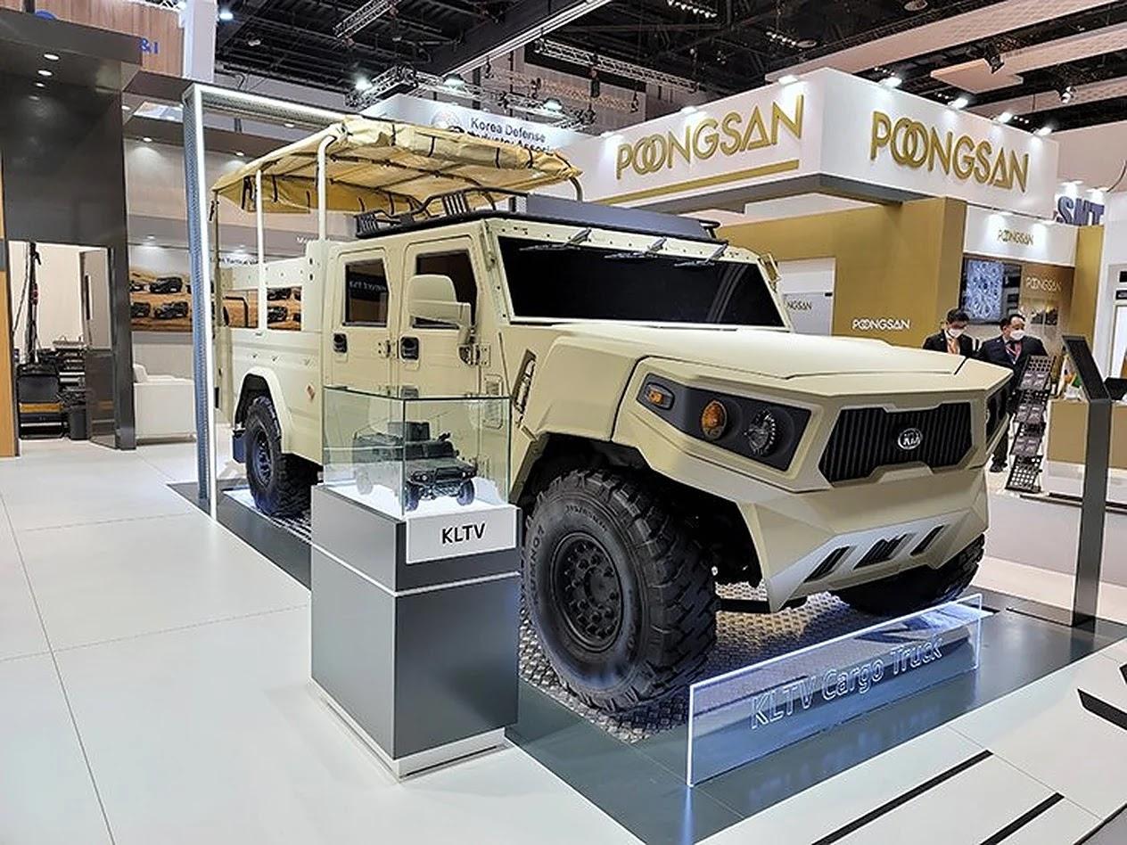 KIA демонструє на IDEX 2021 нову легку військову вантажівку