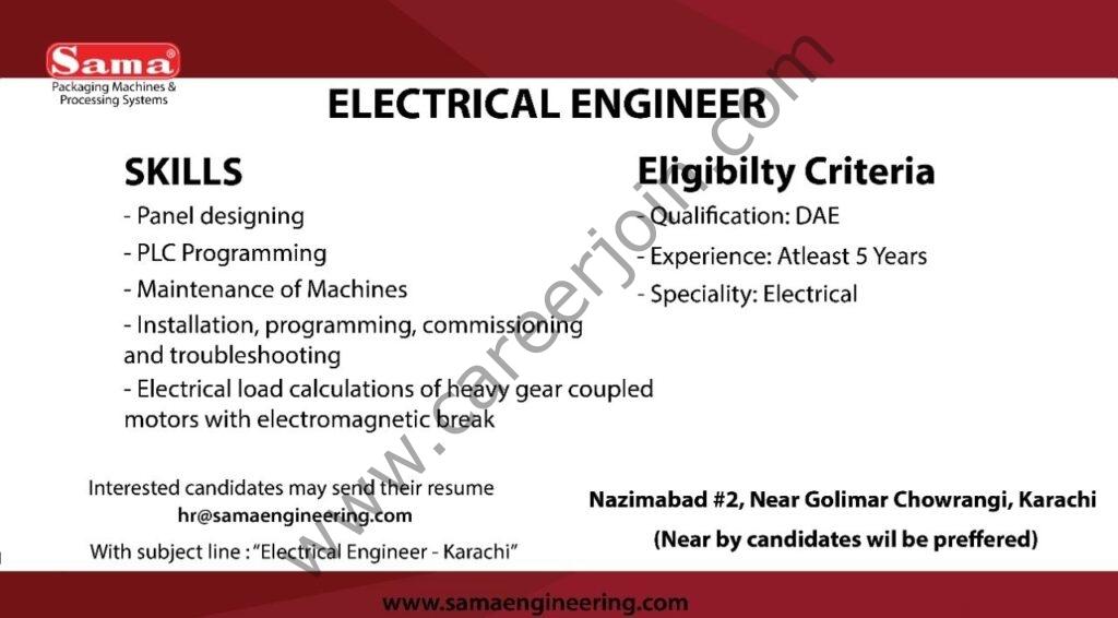 hr@samaengineering.com - SAMA Engineering Jobs 2021 in Pakistan