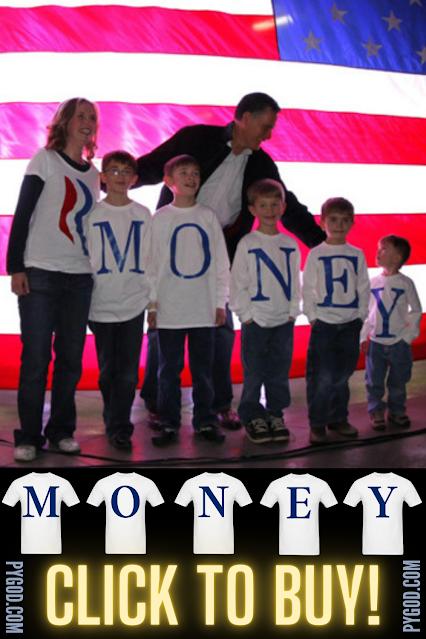 Romney Family MONEY T-Shirts.  PYGear.com