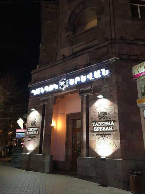We were actually ready to get shawarmas in Shaurma just across the street  because we were starving but on our way out of Tavern Yerevan, the  receptionist ...