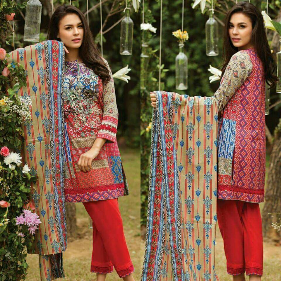 b95edaf9c3 Alkaram Embroidered Lawn Suit, Lawn Printed Dupatta - Jiddat Collection |  Online Shopping For Women