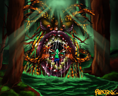 The Forest Monster drawn by 13 year old Serling Molldrem in Adobe Photoshop