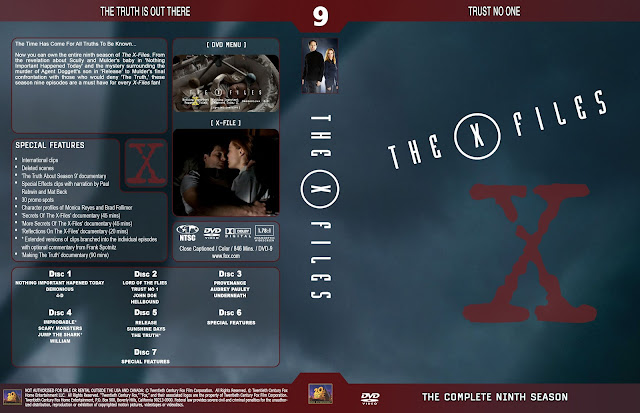 The X Files Season 9 DVD Cover