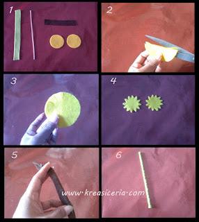 Tutorial bunga matahari (sun flower) dari bahan kain flanel part 1
