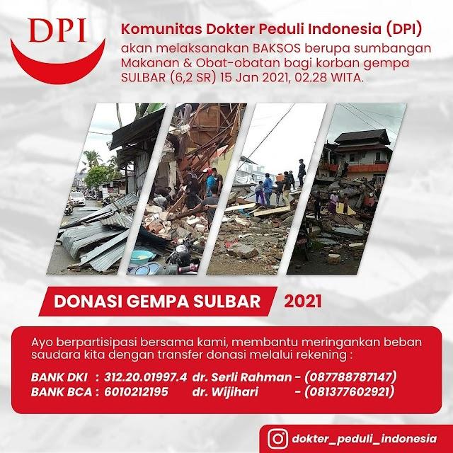 Baksos Gempa Sulawesi Barat oleh Komunitas Dokter Peduli Indonesia (DPI)