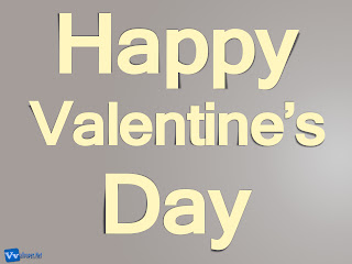 Happy Valentine's Day Text Simple HD Wallpaper Grey