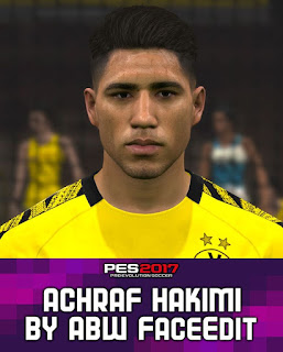 PES 2017 Faces Achraf Hakimi by ABW_FaceEdit