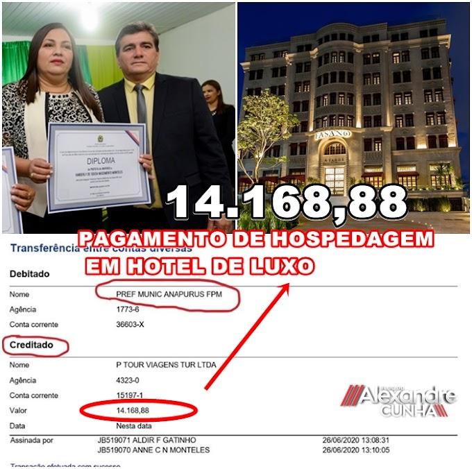 BOMBA: TURISMO COM DINHEIRO PÚBLICO EM ANAPURUS/MA; PREFEITURA PAGA QUASE 20 MIL REAIS EM HOTEL DE LUXO PARA A FAMÍLIA DA PREFEITA VANDERLY MONTELES.