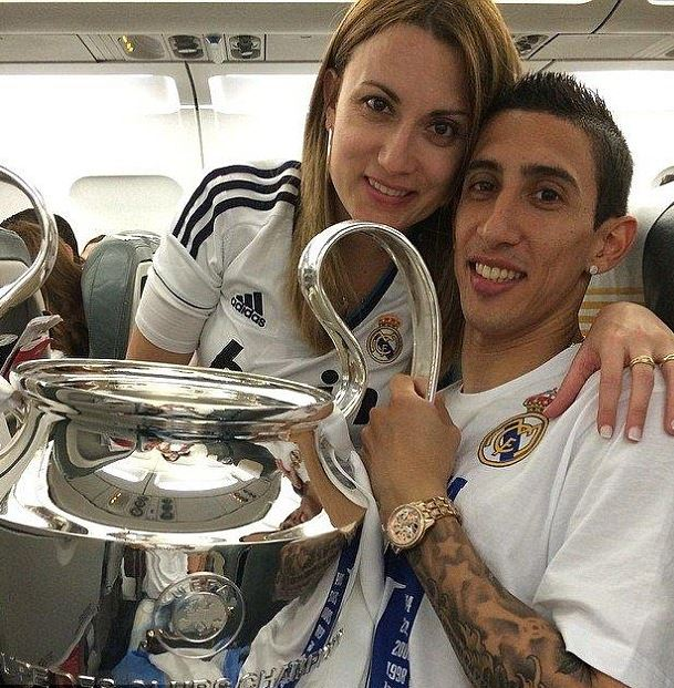 My husband only joined Manchester United in 2014 because of the money - Di Maria's Wife