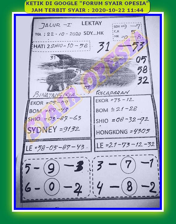 Kode syair Singapore Kamis 22 Oktober 2020 11