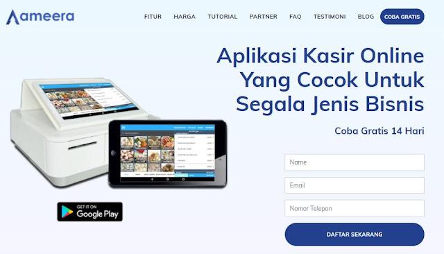 aplikasi kasir ameera
