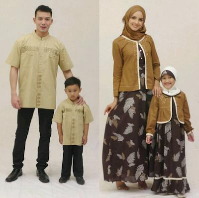Busana muslim kombinasi batik untuk keluarga