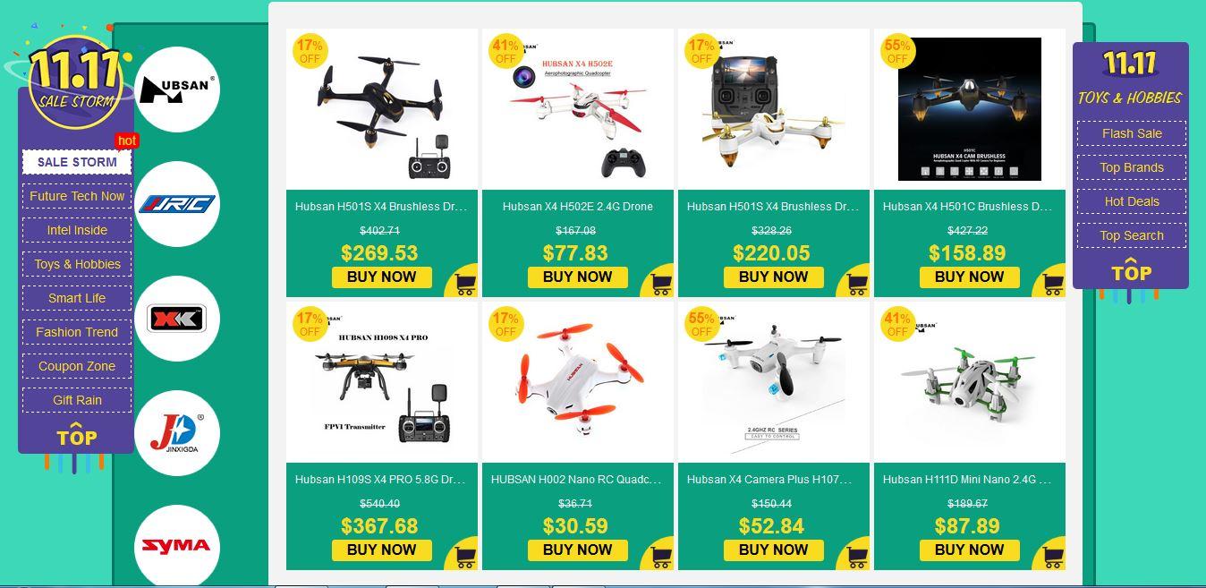 Gearbest Hubsan 11.11 Sale deals