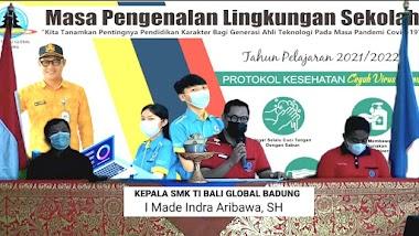 SMK TI Bali Global Badung Laksanakan Pembukaan Masa Pengenalan Lingkungan Sekolah T.A 2021/2022 Secara Daring