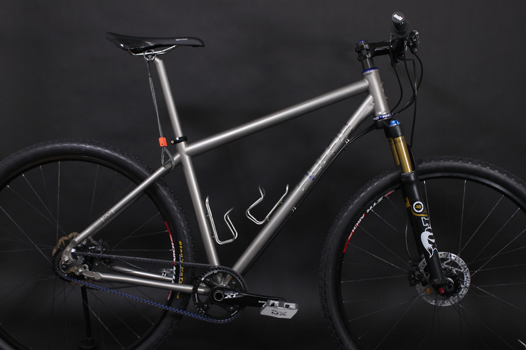 7599ede23e2 Rohloff-Equipped, Belt Driven Firefly Custom Titanium 29er Mountain Bike