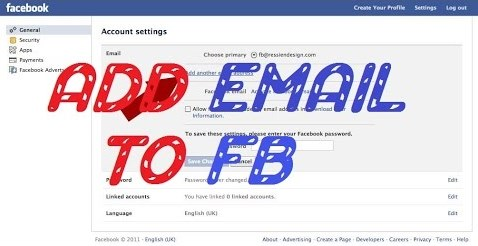 how to add a new email address to facebook