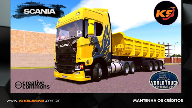 SCANIA S730 - THE FLYING GRIFFIN AMARELO
