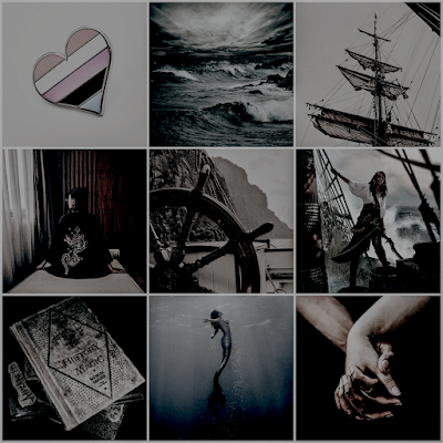 the mermaid the witch and the sea moodboard aesthetic