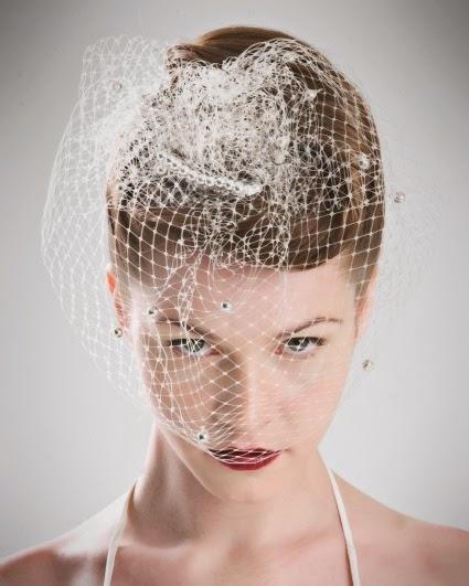 3ceb5d998e Velo de jaula o birdcage veil  también conocido como velo de rejilla