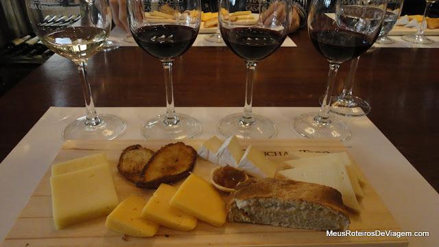 Degustação de queijos e vinhos do tour completo - Concha y Toro