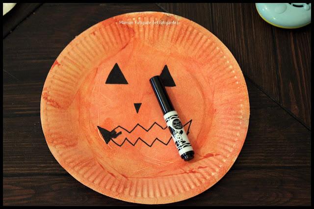 assiette carton deco halloween