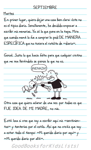 sample page #1 from DIARIO DE GREG: UN RENACUAJO (Wimpy Kid #1) by Jeff Kinney