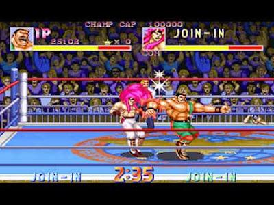 Haggar in Saturday Night Slam Masters arcade