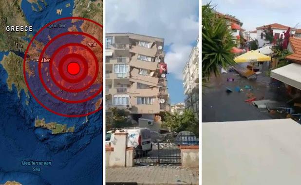 Fuerte Terremoto seguido de un tsunami azota Turquía y Grecia (videos)