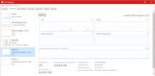 Task-Manager-Ansicht des Microsoft Surface Book 2 mit NVIDIA GeForce GTX 1060