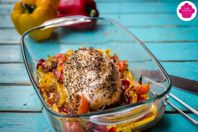 Rôti de dinde et poivrons - cuisson à l'Omnicuiseur ou au four