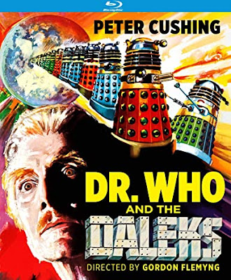 Cover art for Kino Lorber's Blu-ray of DR. WHO AND THE DALEKS!