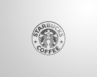 Starbucks Logo Greyscale HD Wallpaper