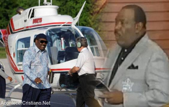 Pastor Ira V. Hilliard pide donaciones para arreglar helicóptero
