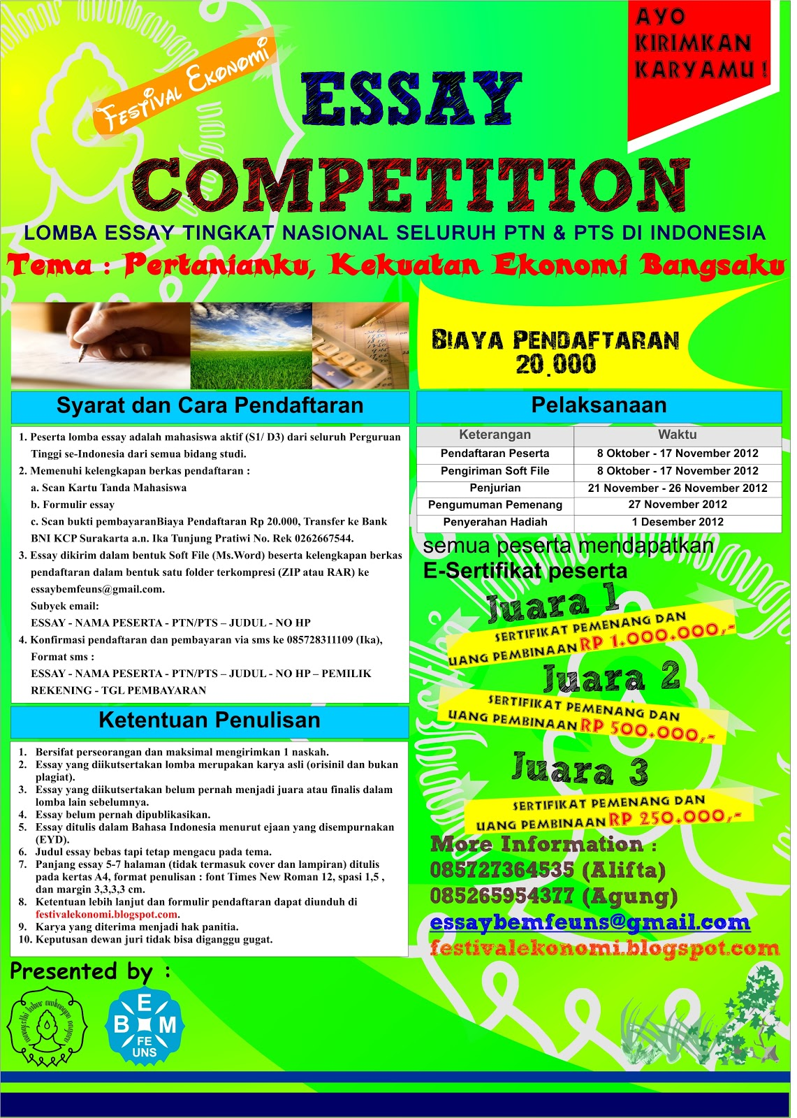 Master thesis competition contest