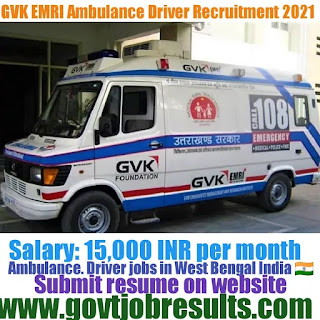 GVK EMRI Ambulance Driver Recruitment 2021-22