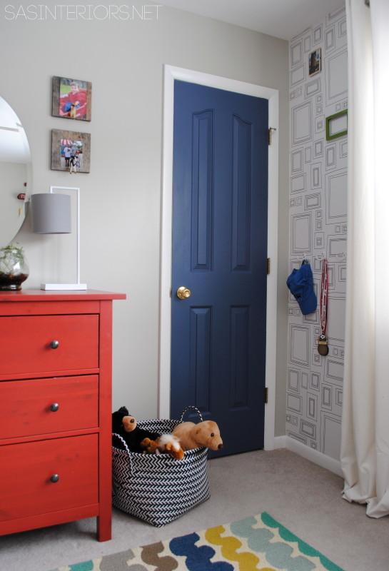 painted door kids room accent