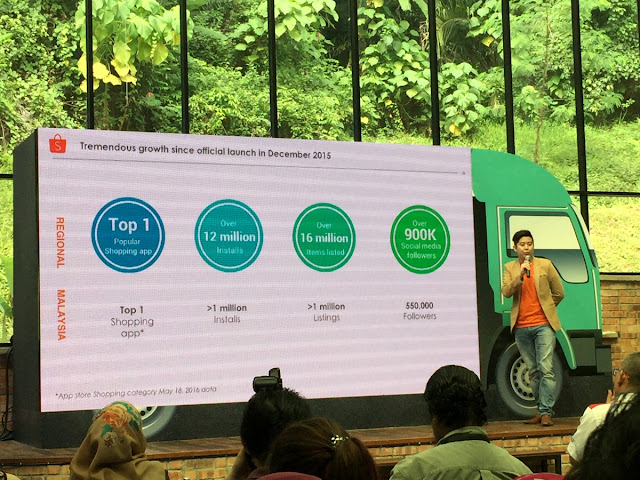 Ian Ho, Regional Managing Director of Shopee sharing 2016 stats for shopee