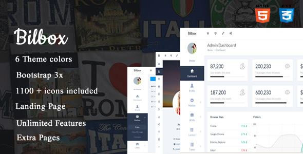 Download Bilbox - Premium Admin Dashboard Template
