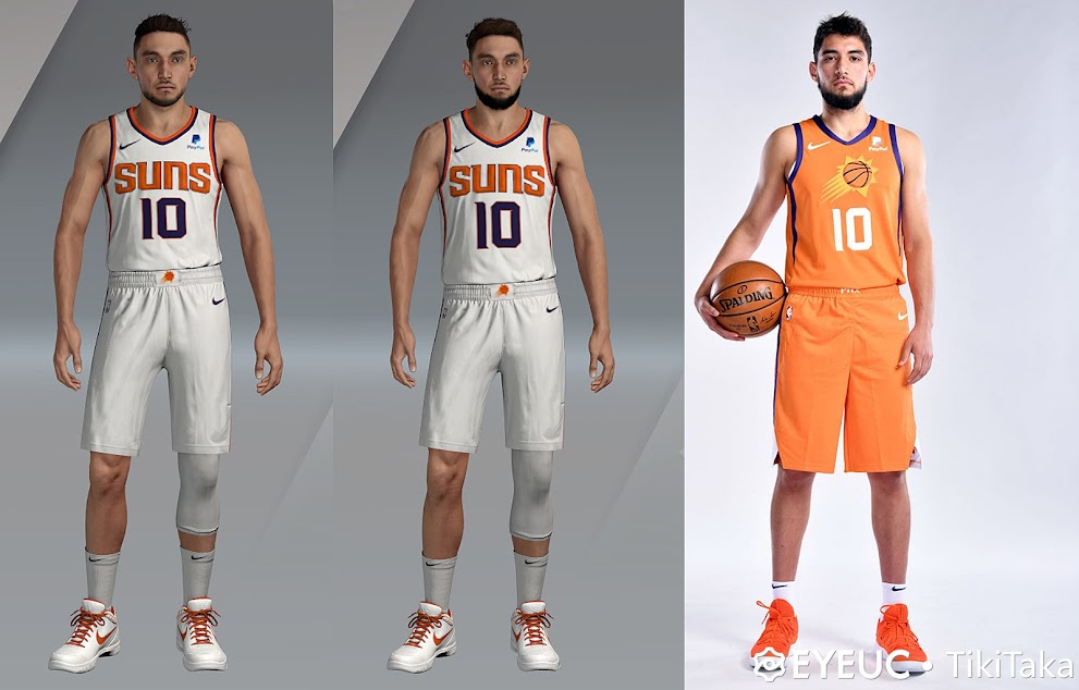 Ty Jerome Cyberface, Hair and Body Model By TikiTaka [FOR 2K21]