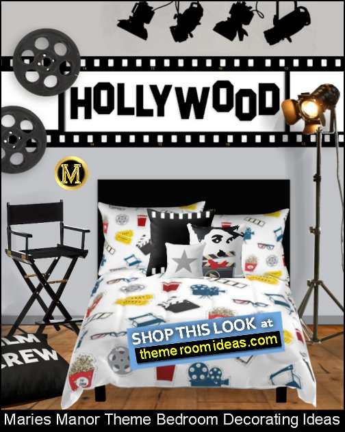 cinema bedrooms  Movie themed bedrooms - home theater design ideas - Hollywood style decor - movie decor -  Film decor - home cinema decor - movie theater decor - Home Theater Curtains