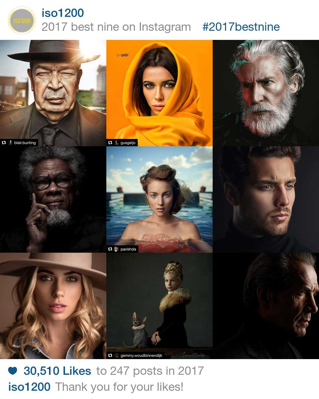 2017 Best Portrait Photographers On Our Instagram Blog